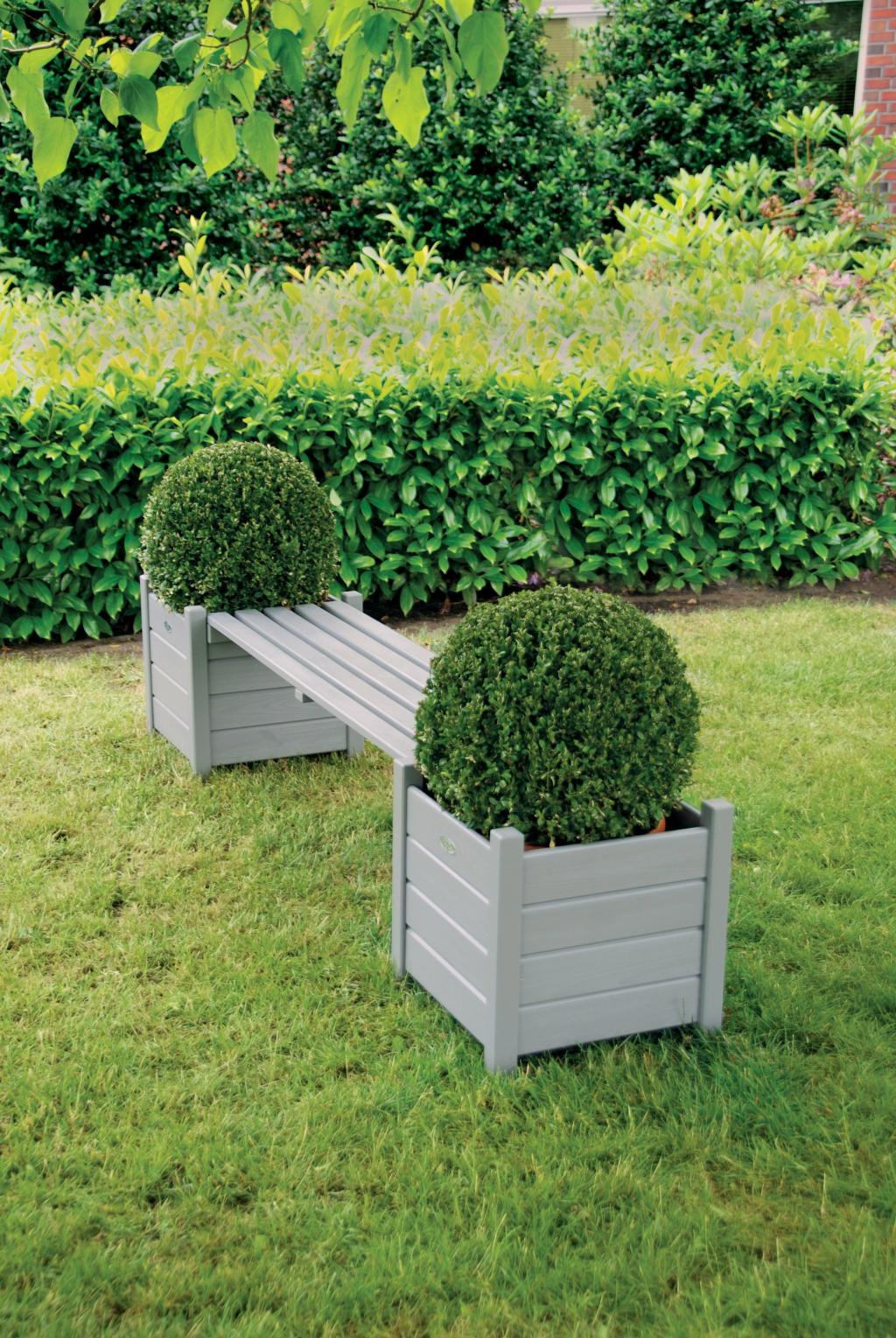 pflanzenbeh lter bank grau kiefernholz esschert. Black Bedroom Furniture Sets. Home Design Ideas