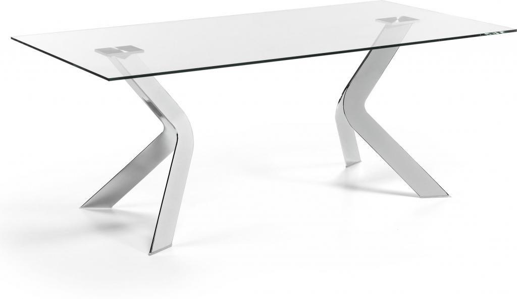esstisch westport transparent chrom glas 200x100 la forma kaufen. Black Bedroom Furniture Sets. Home Design Ideas