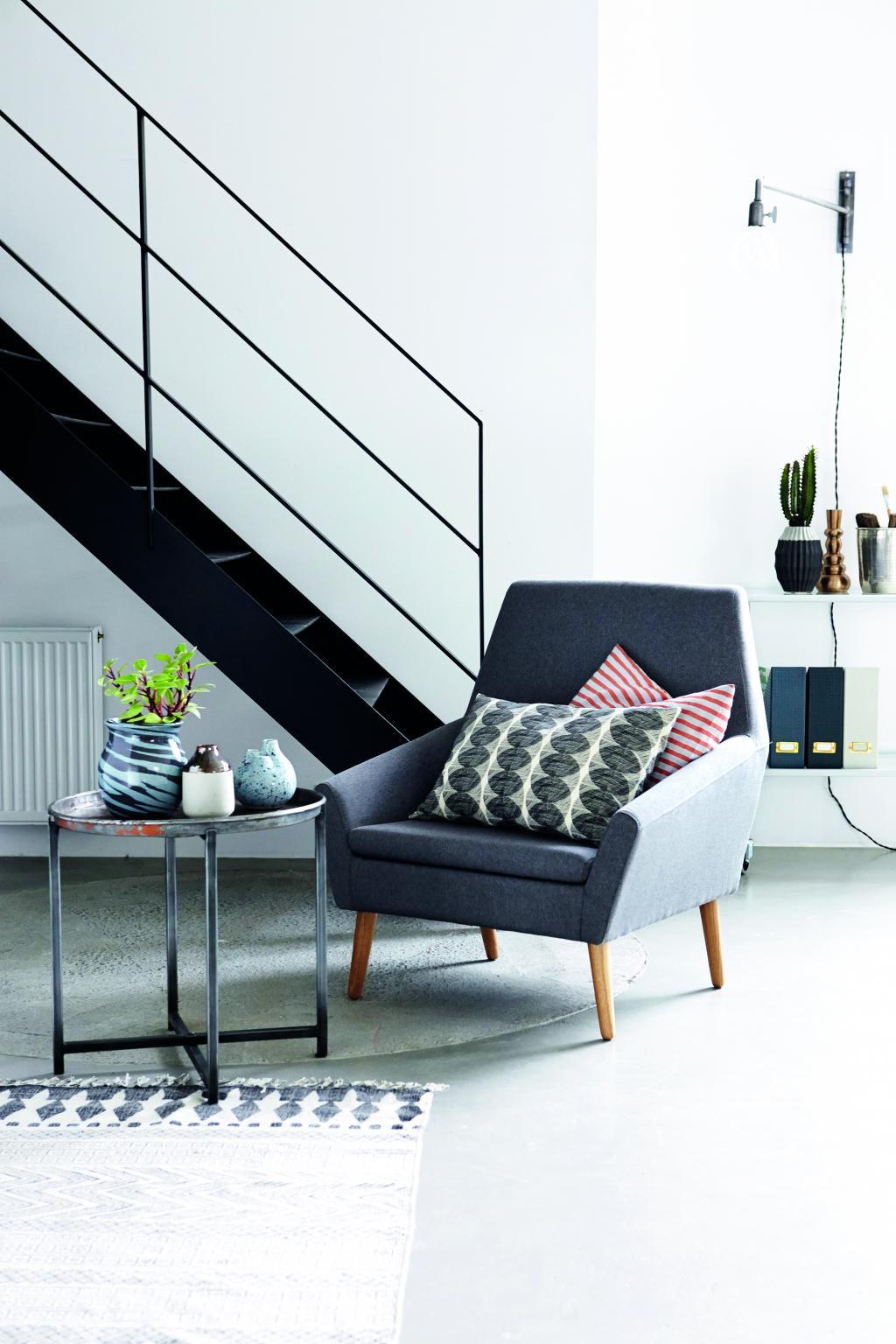 vloerkleed block grijs zwart 60x90 katoen house doctor. Black Bedroom Furniture Sets. Home Design Ideas