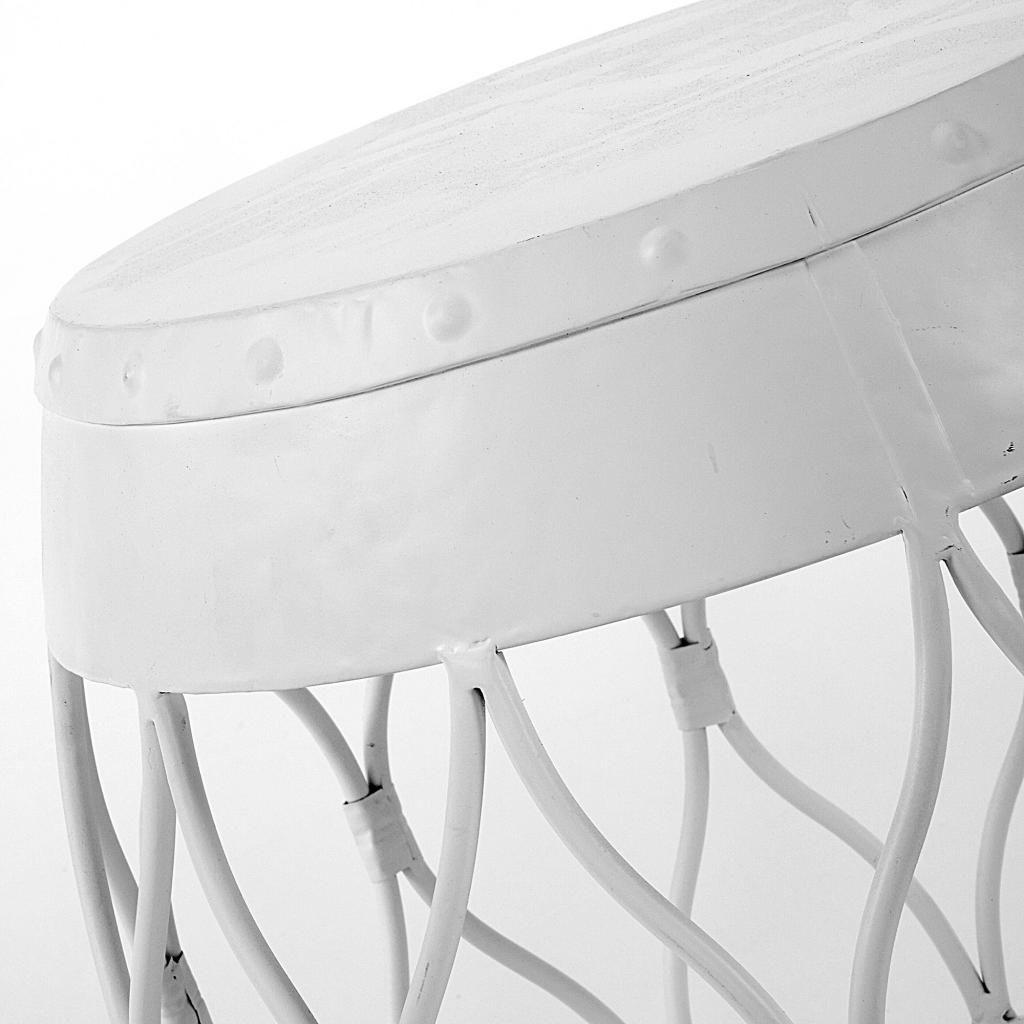 beistelltisch ascot 43x46cm metall wei la forma. Black Bedroom Furniture Sets. Home Design Ideas