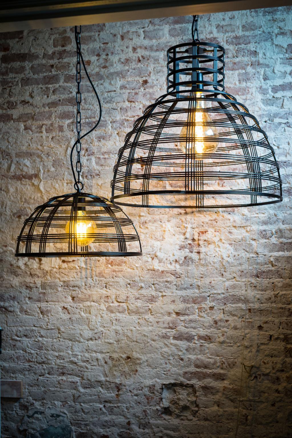 hanglamp barletta draadlamp zwart 70cm max155cm eth. Black Bedroom Furniture Sets. Home Design Ideas