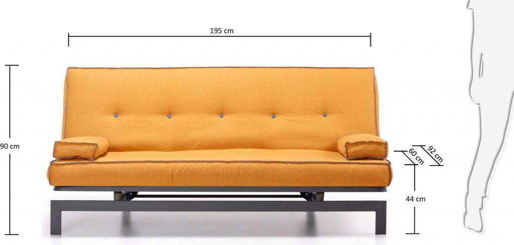 schlafcouch gio 2 5 sitzer gelb gestell grau la forma kaufen wohn. Black Bedroom Furniture Sets. Home Design Ideas