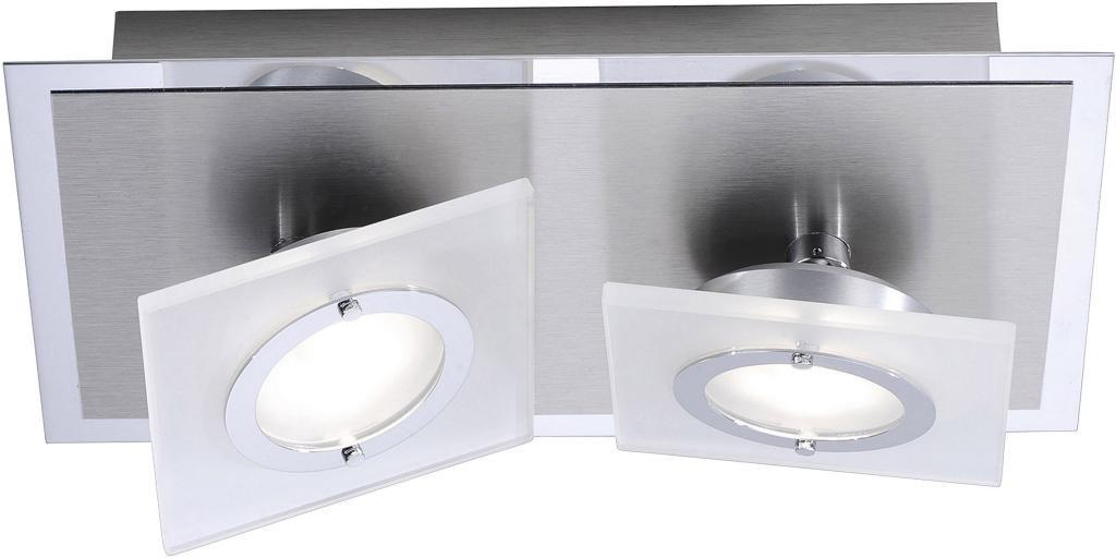 Deckenlampe rotator 2 lampen aluminium paul neuhaus for Neuhaus lampen