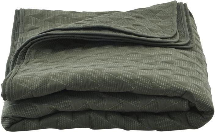 omslagdeken mih army groen 240 x 240 cm house doctor. Black Bedroom Furniture Sets. Home Design Ideas