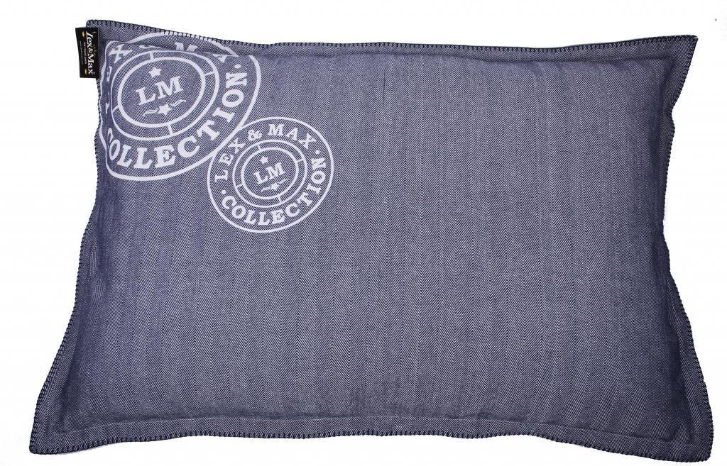kissenbezug fischgr t 100 x 70 cm indigo lex max kaufen wohn und. Black Bedroom Furniture Sets. Home Design Ideas