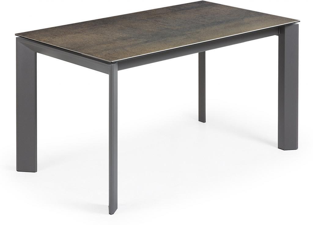 eettafel atta verlengbaar 140 tot 200 cm keramiek iron moss la forma. Black Bedroom Furniture Sets. Home Design Ideas