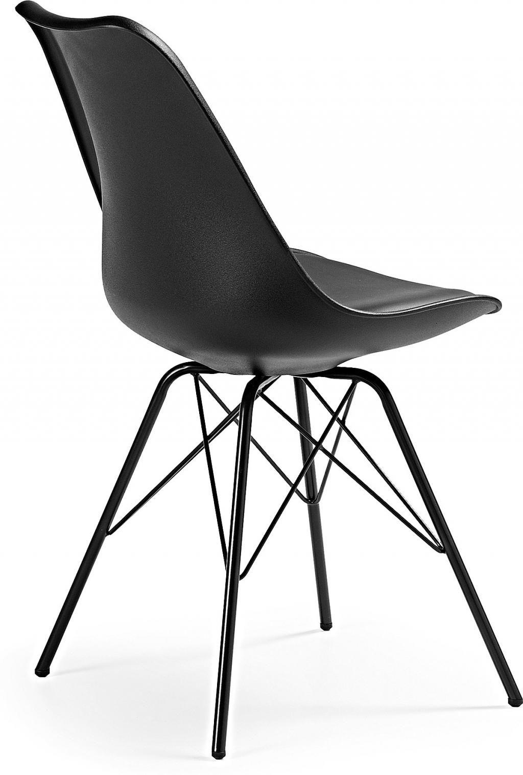 Stuhl lars schwarz metall la forma kaufen wohn und lifestylewebshop - Stuhl schwarz metall ...