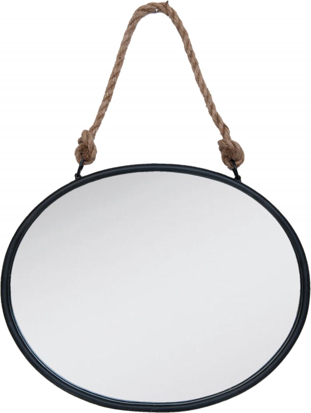 spiegel 50x4x40cm zwart ijzer clayre eef. Black Bedroom Furniture Sets. Home Design Ideas