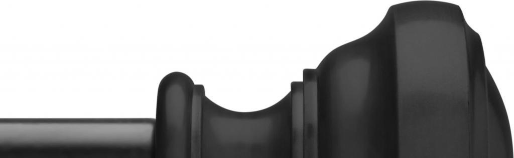 gordijnroede noble 91 183cm mat zwart gegoten eindstukken umbra. Black Bedroom Furniture Sets. Home Design Ideas