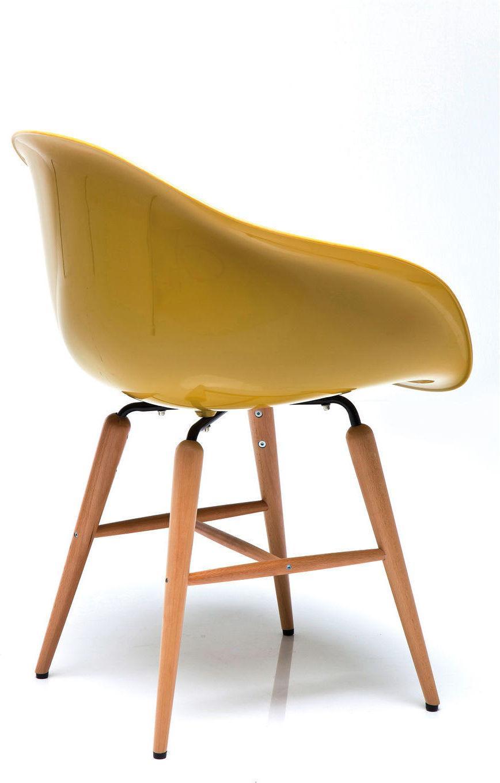stuhl forum wood senffarben mit armlehne kare design kaufen wohn und. Black Bedroom Furniture Sets. Home Design Ideas
