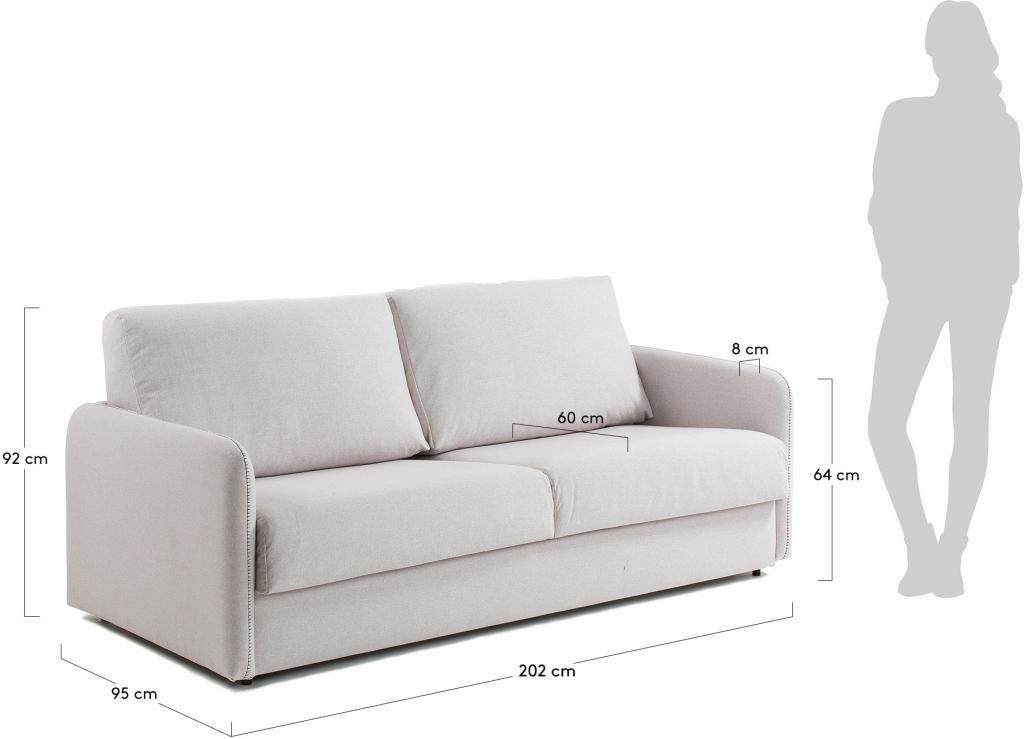 schlafcouch komoon 160 visco matratze beige la forma kaufen wohn. Black Bedroom Furniture Sets. Home Design Ideas