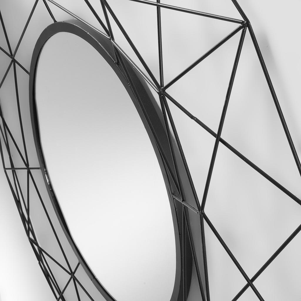 Spiegel habita rund metall schwarz la forma kaufen wohn und - Spiegel schwarz metall ...