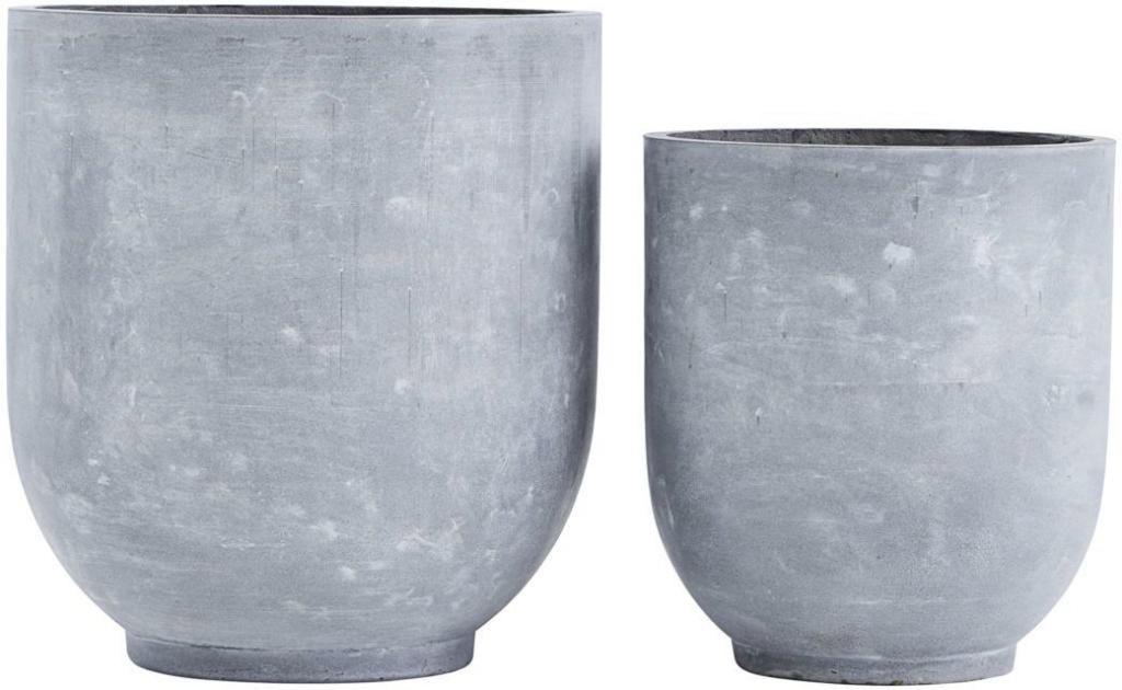 Blumentopf gard 2er set 50x55 und 40x45cm beton for Blumentopf beton