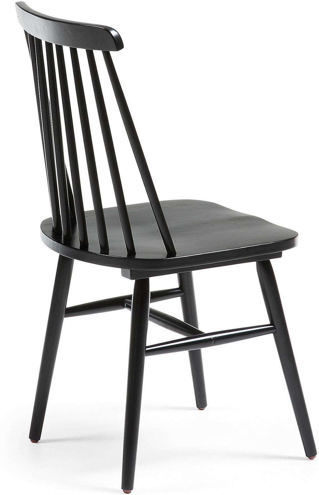 stuhl kristie holz schwarz la forma kaufen. Black Bedroom Furniture Sets. Home Design Ideas