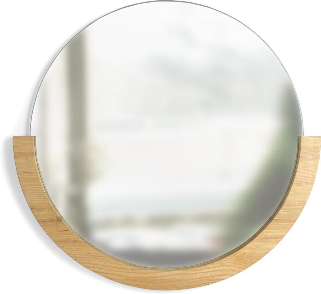 spiegel mira rund naturell holz umbra kaufen wohn und lifestylewebshop. Black Bedroom Furniture Sets. Home Design Ideas
