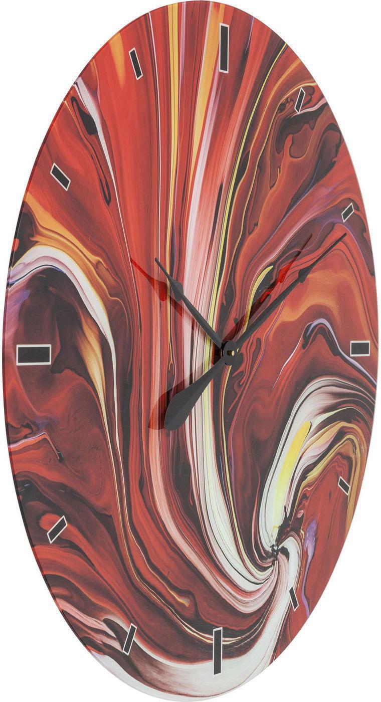 wanduhr glas chaos fire 80cm kare design kaufen wohn und lifestylewebshop. Black Bedroom Furniture Sets. Home Design Ideas