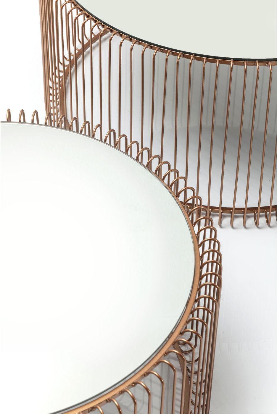 Couchtisch wire copper 2 set kare design kaufen for Kare design schweiz