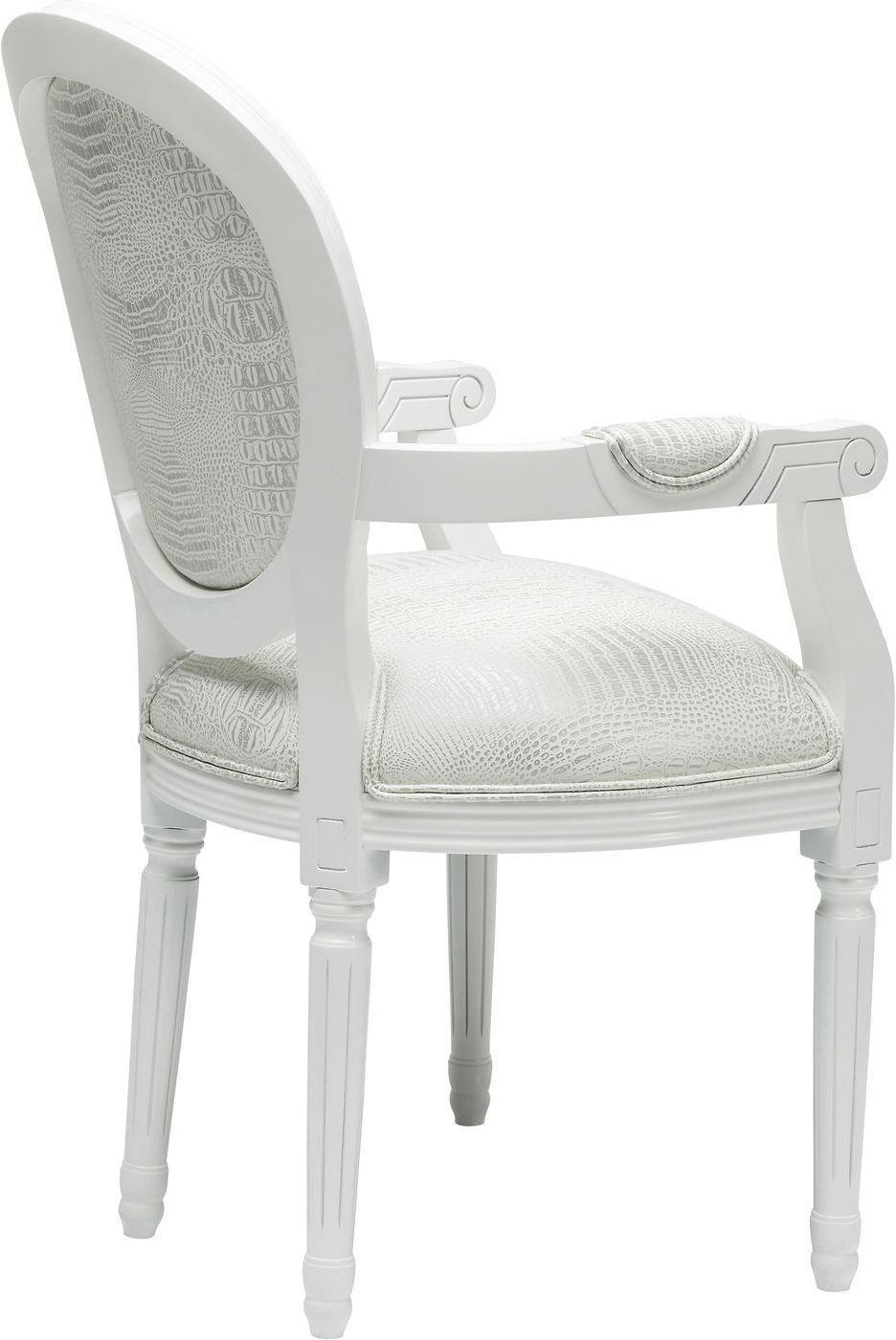 Stuhl mit armlehne gastro louis white kare design kaufen for Stuhl kare design