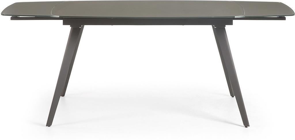 eettafel snugg verlengbaar 140 tot 210 cm antraciet la forma. Black Bedroom Furniture Sets. Home Design Ideas