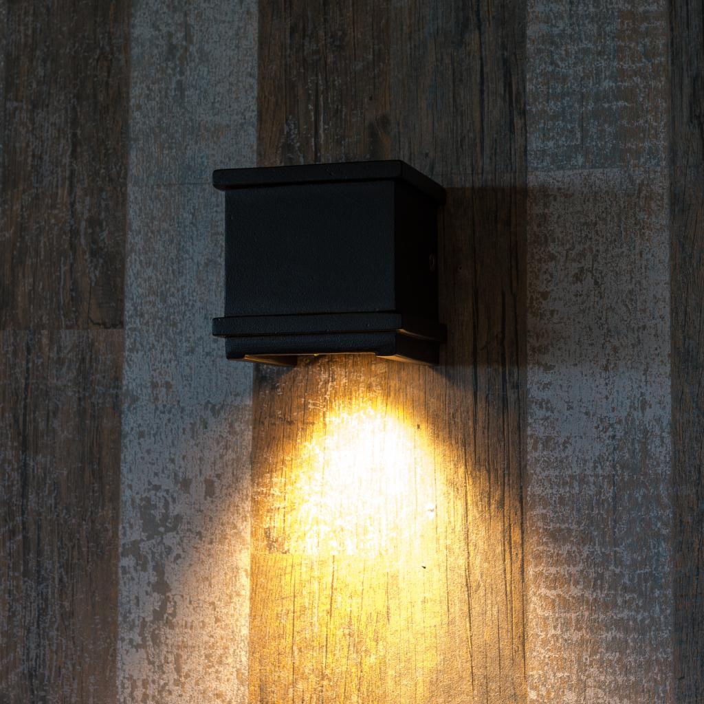 Au en wandlampe borgo aluminium schwarz ks verlichting kaufen wohn - Aussen wandlampe ...