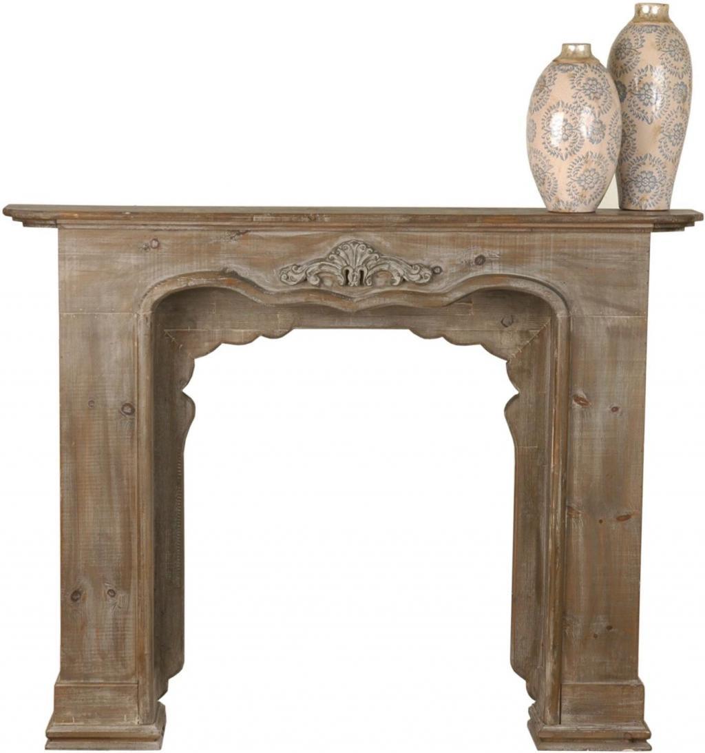 Decoratie houten schouw 131x24x101cm chocola clayre eef for Houten schijven decoratie