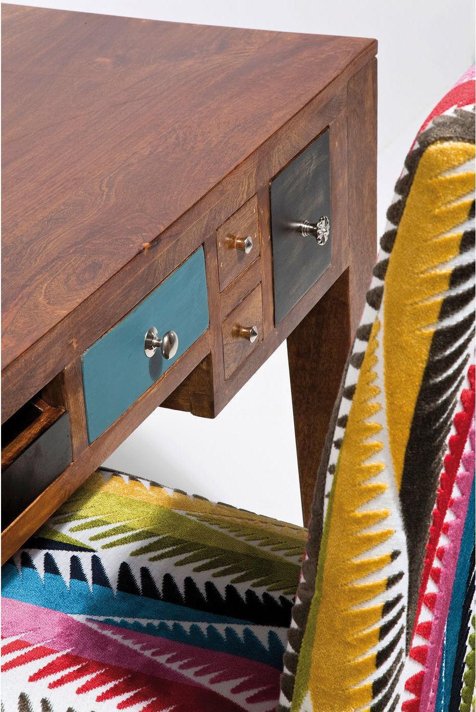 schreibtisch babalou mangoholz mehrfarbig kare. Black Bedroom Furniture Sets. Home Design Ideas