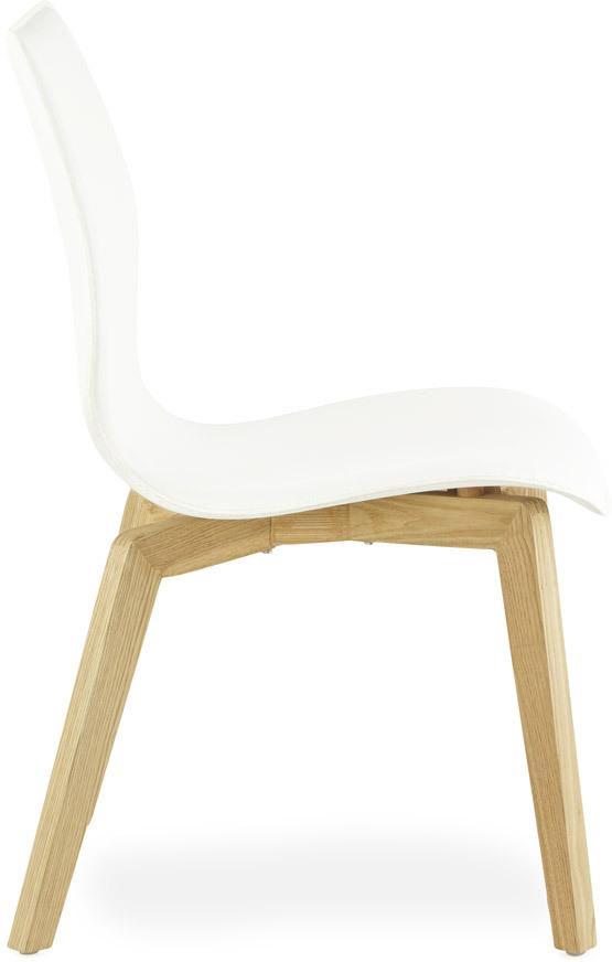 Stoel siret wit imitatieleer 48x57x87 kokoon design for Design stoel wit