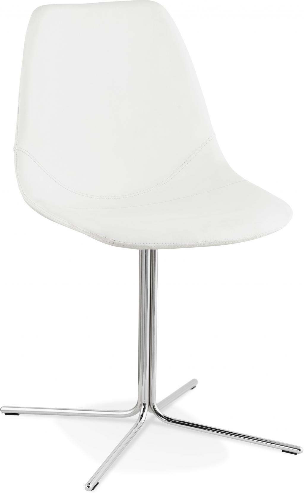 Stoel bedford wit verchroomd onderstel kokoon design for Design stoel wit