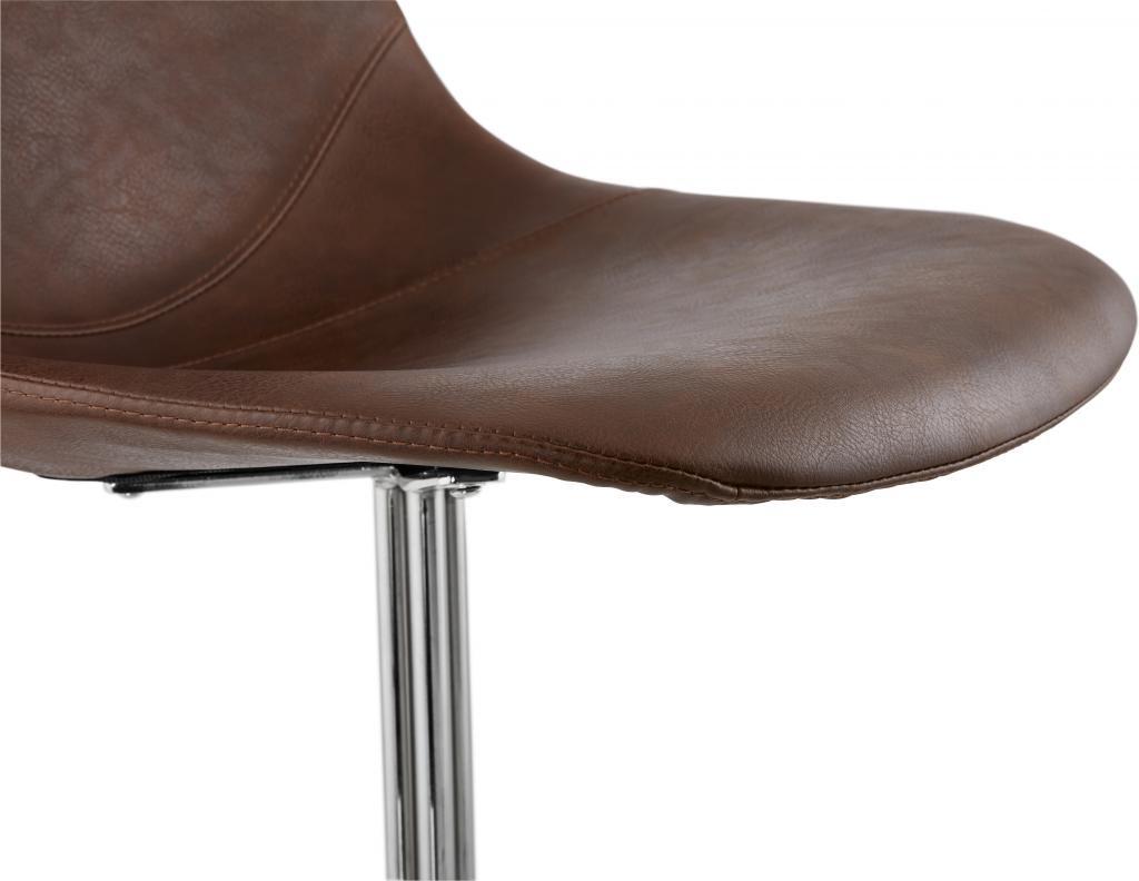 Stuhl bedford braun chrom leder metall kokoon for Design stuhl leder metall