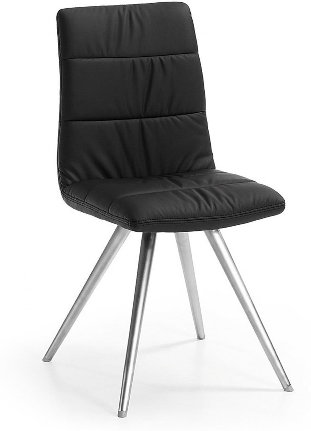 stuhl lark2 schwarz edelstahl gestell la forma kaufen wohn und. Black Bedroom Furniture Sets. Home Design Ideas