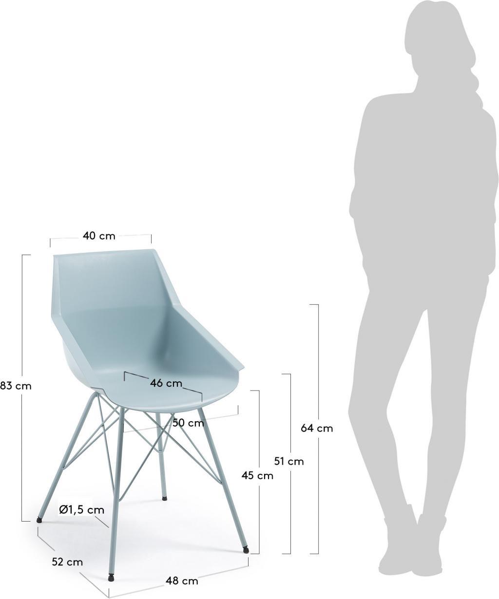esszimmerstuhl kunn hellblau epoxy kunststoff schale la forma kaufen. Black Bedroom Furniture Sets. Home Design Ideas