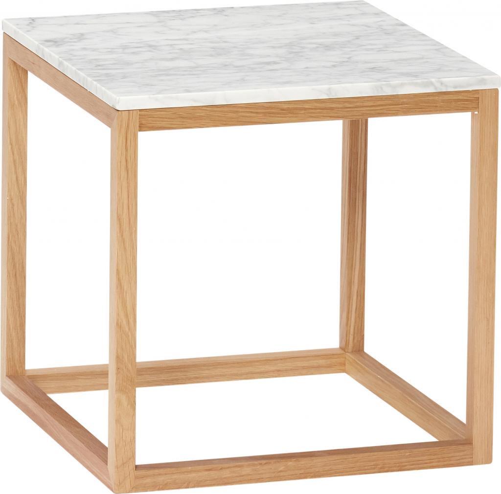 beistelltisch marmor holz wei naturell hubsch kaufen wohn und. Black Bedroom Furniture Sets. Home Design Ideas