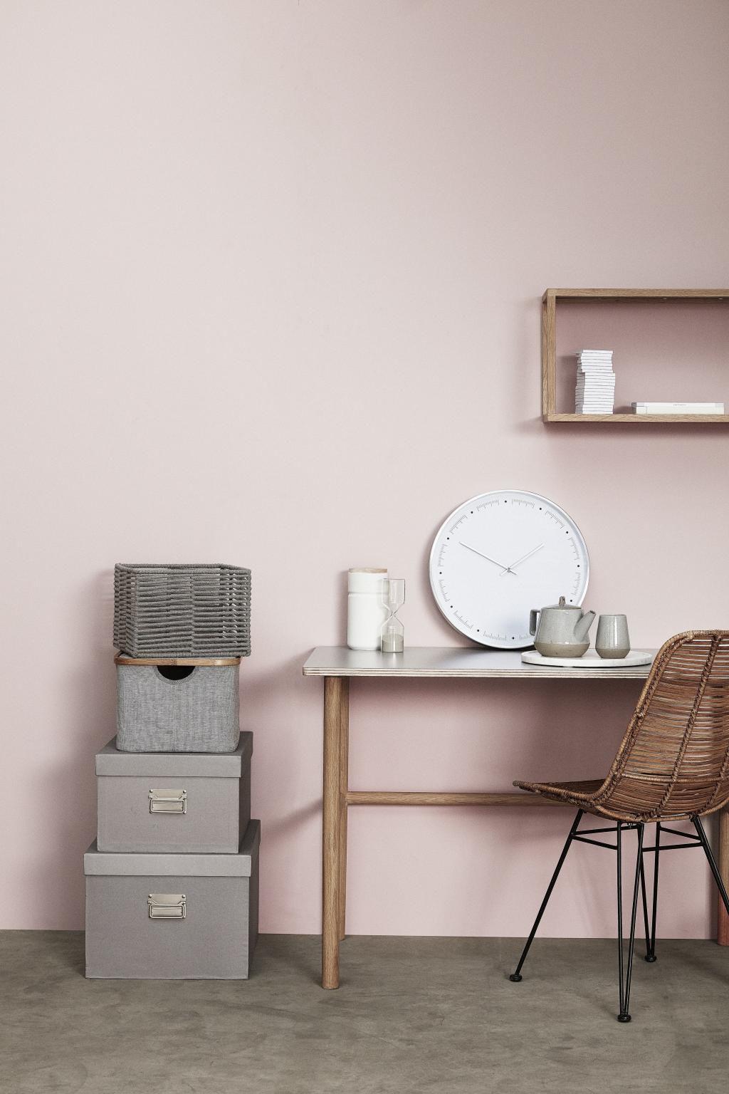 bureau eikenhout 110 x 57 cm grijs naturel hubsch. Black Bedroom Furniture Sets. Home Design Ideas