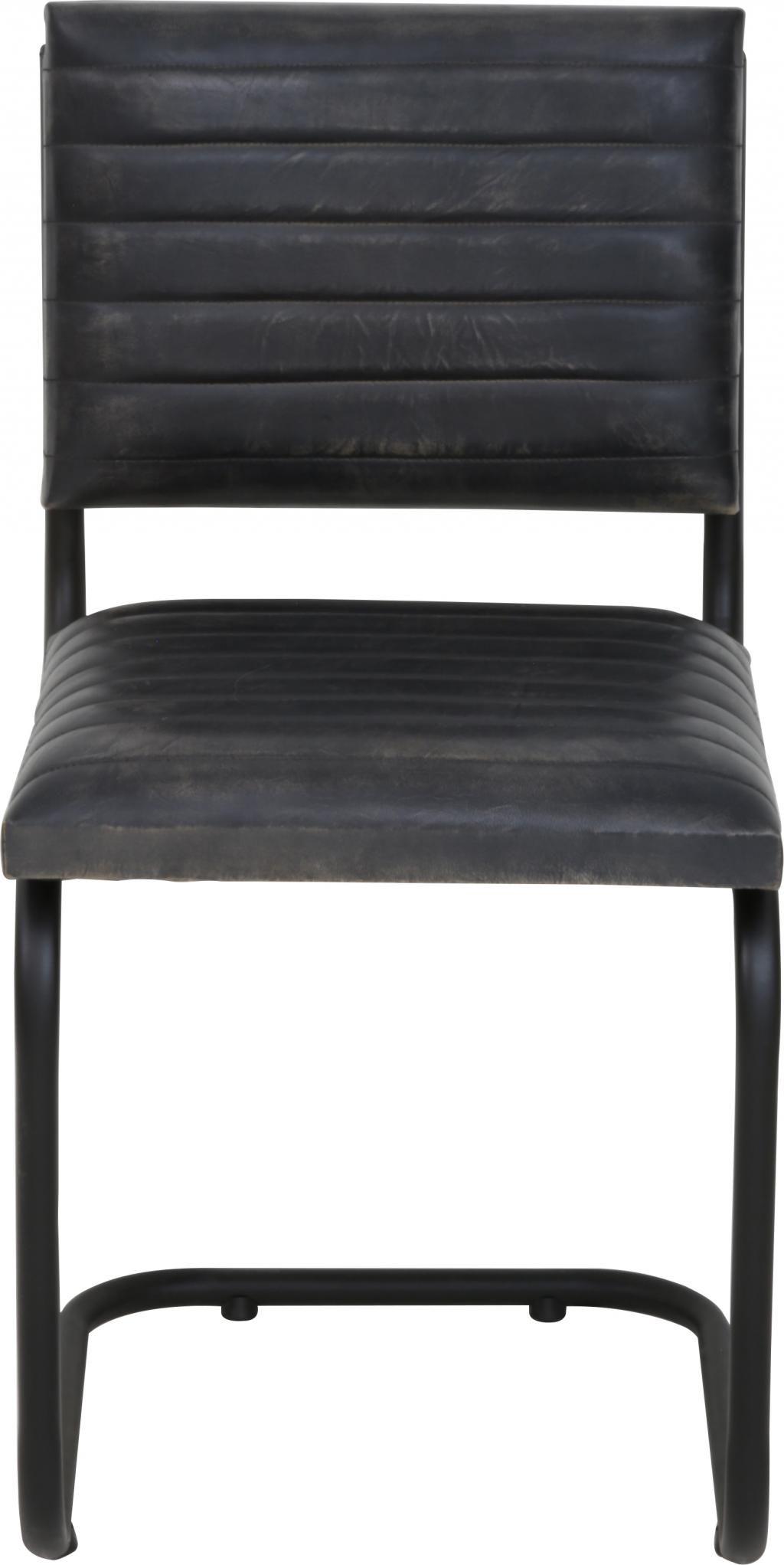 stuhl lockhart grau leder light living kaufen wohn und. Black Bedroom Furniture Sets. Home Design Ideas