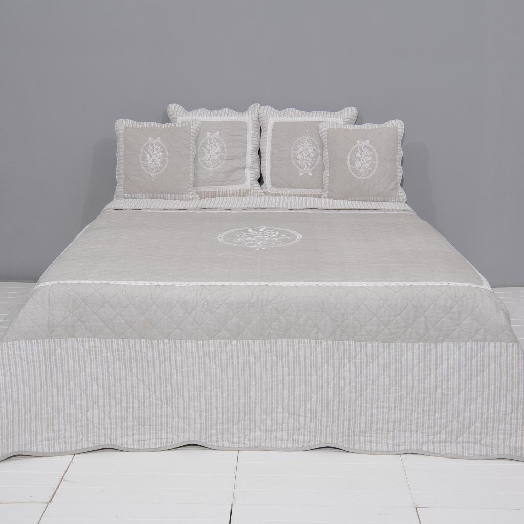 tagesdecke natur 100 baumwolle 180 x 260 cm clayre eef kaufen wohn. Black Bedroom Furniture Sets. Home Design Ideas