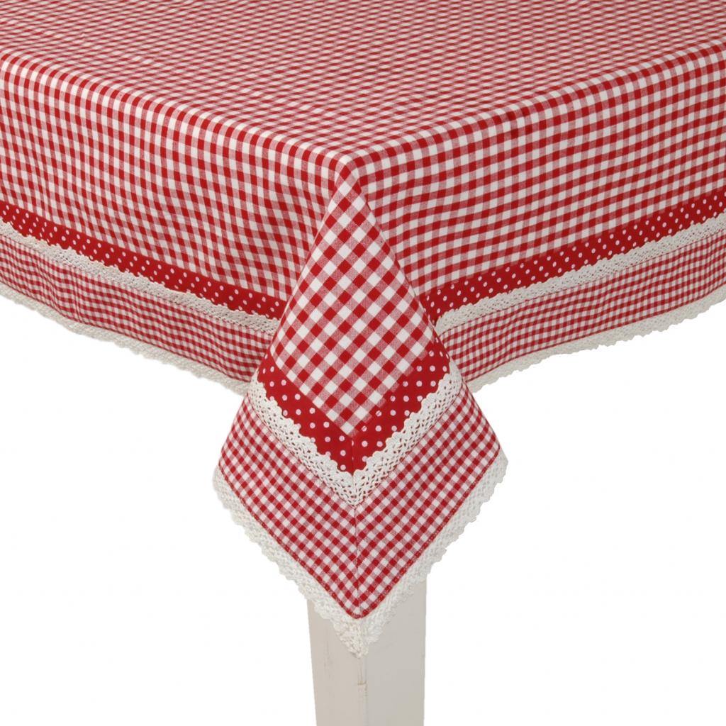 tischdecke rot baumwolle 130 x 180 cm clayre eef kaufen wohn und. Black Bedroom Furniture Sets. Home Design Ideas
