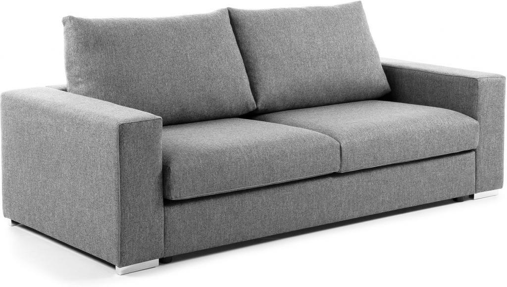 schlafcouch big hellgrau visco matratze 160 cm la forma kaufen wohn. Black Bedroom Furniture Sets. Home Design Ideas