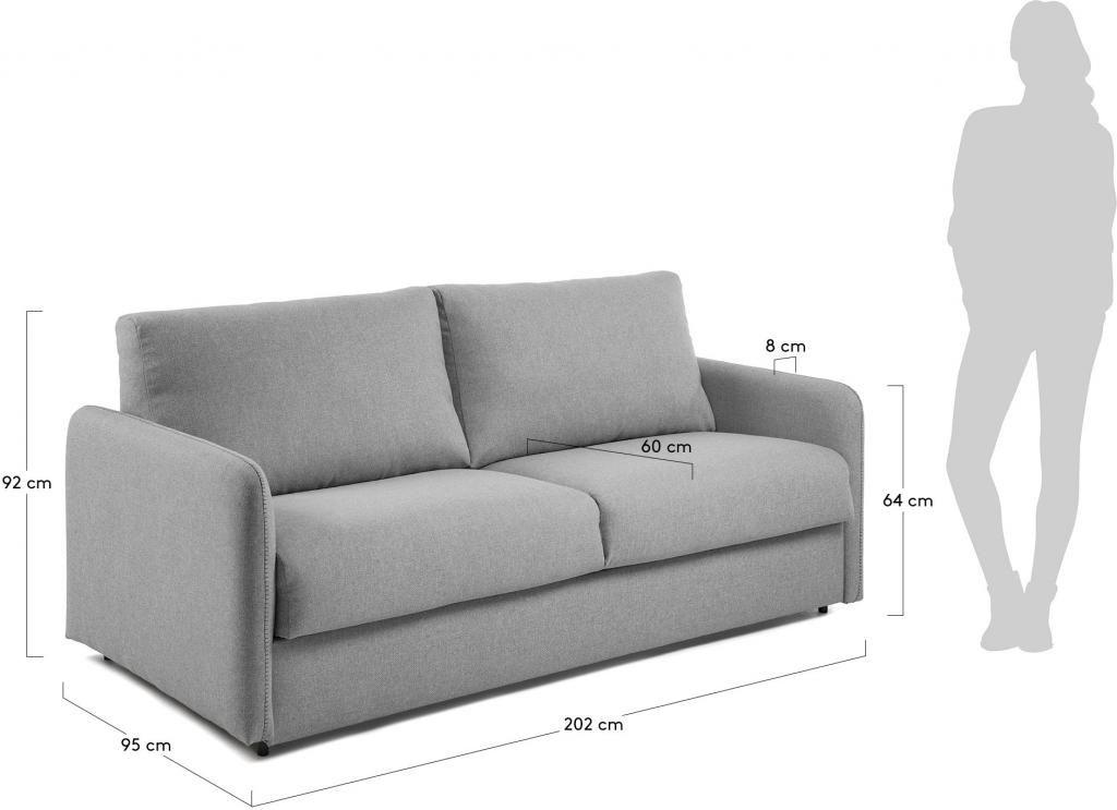 schlafcouch komoon hellgrau polyurethan matratze 160 cm la forma kaufen lilianshouse. Black Bedroom Furniture Sets. Home Design Ideas