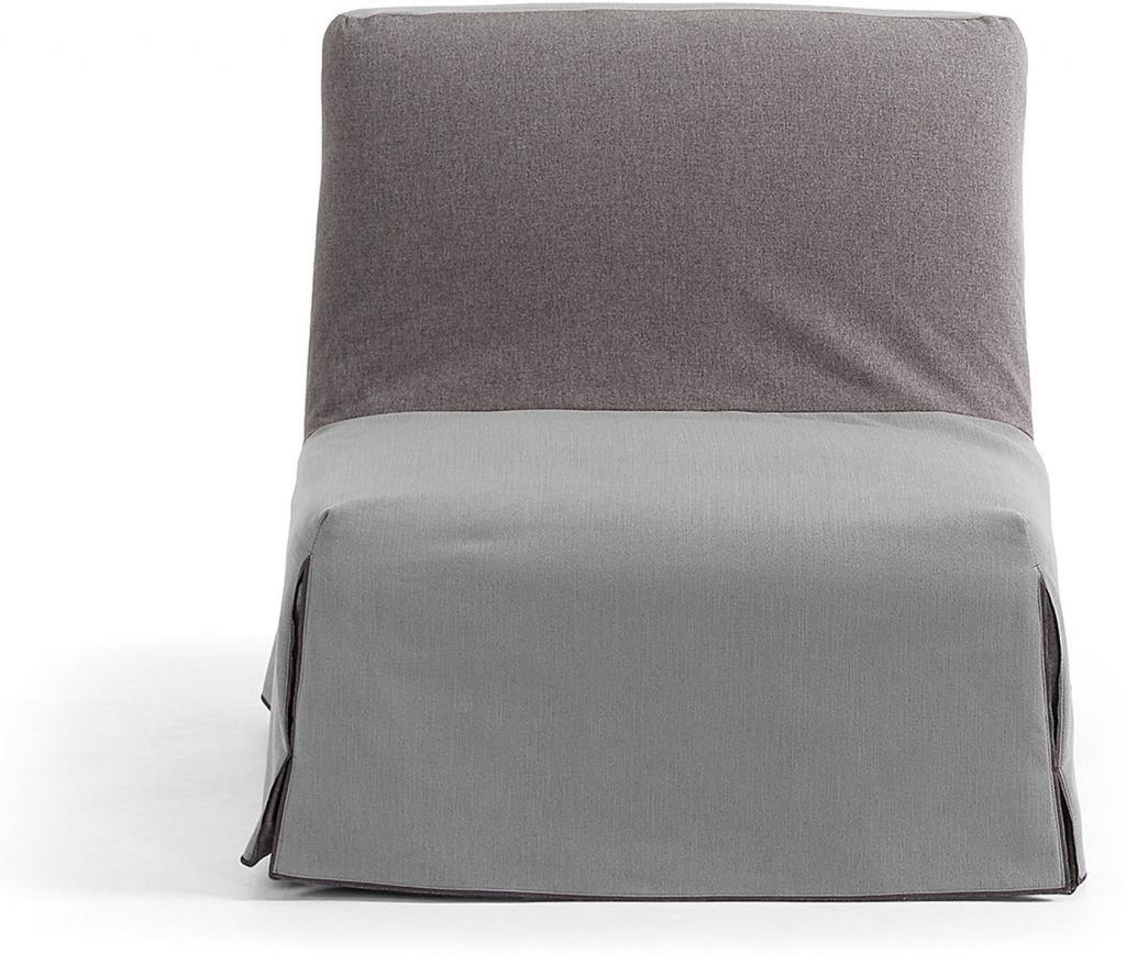 sessel jolly hellgrau zum bett ausklappbar la forma kaufen wohn und. Black Bedroom Furniture Sets. Home Design Ideas