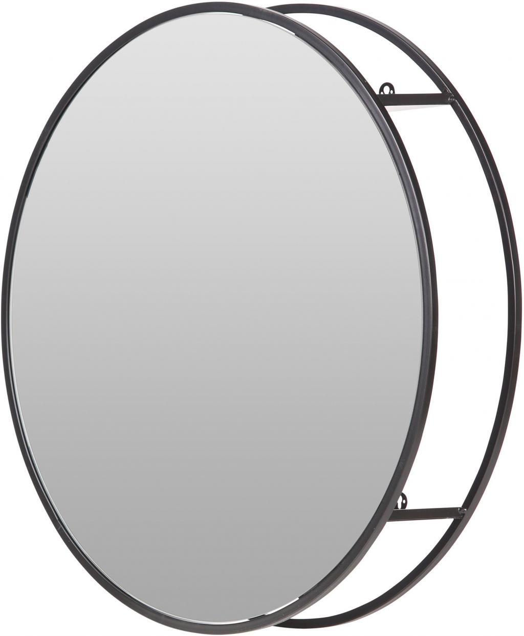 spiegelschrank olivia rund 60cm metall woood kaufen wohn und. Black Bedroom Furniture Sets. Home Design Ideas