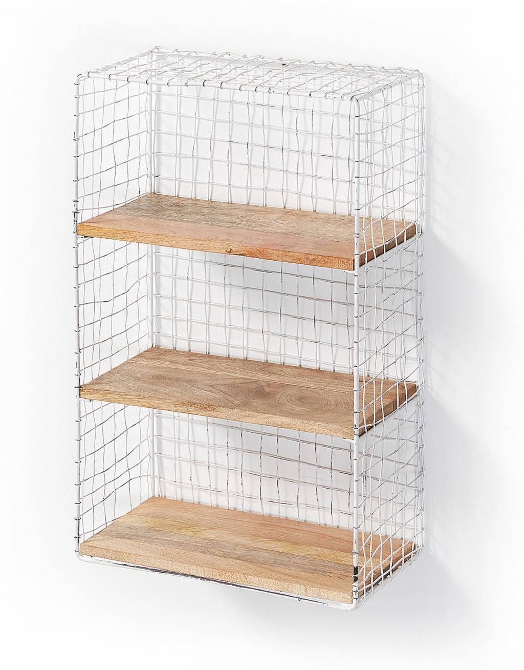 wandregal delane wei metall holz la forma kaufen wohn und. Black Bedroom Furniture Sets. Home Design Ideas