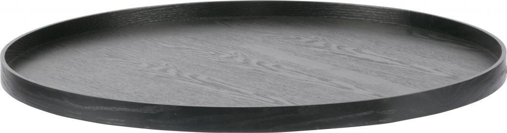 tablett mesa rund 60 cm schwarz holz woood kaufen wohn und. Black Bedroom Furniture Sets. Home Design Ideas