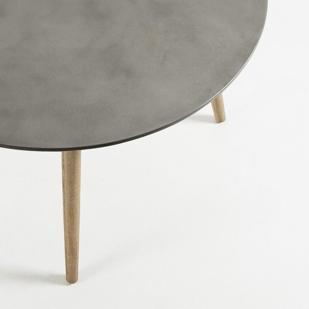 Eettafel tropo rond 120 cm eucalyptus polycement la forma for Eettafel rond