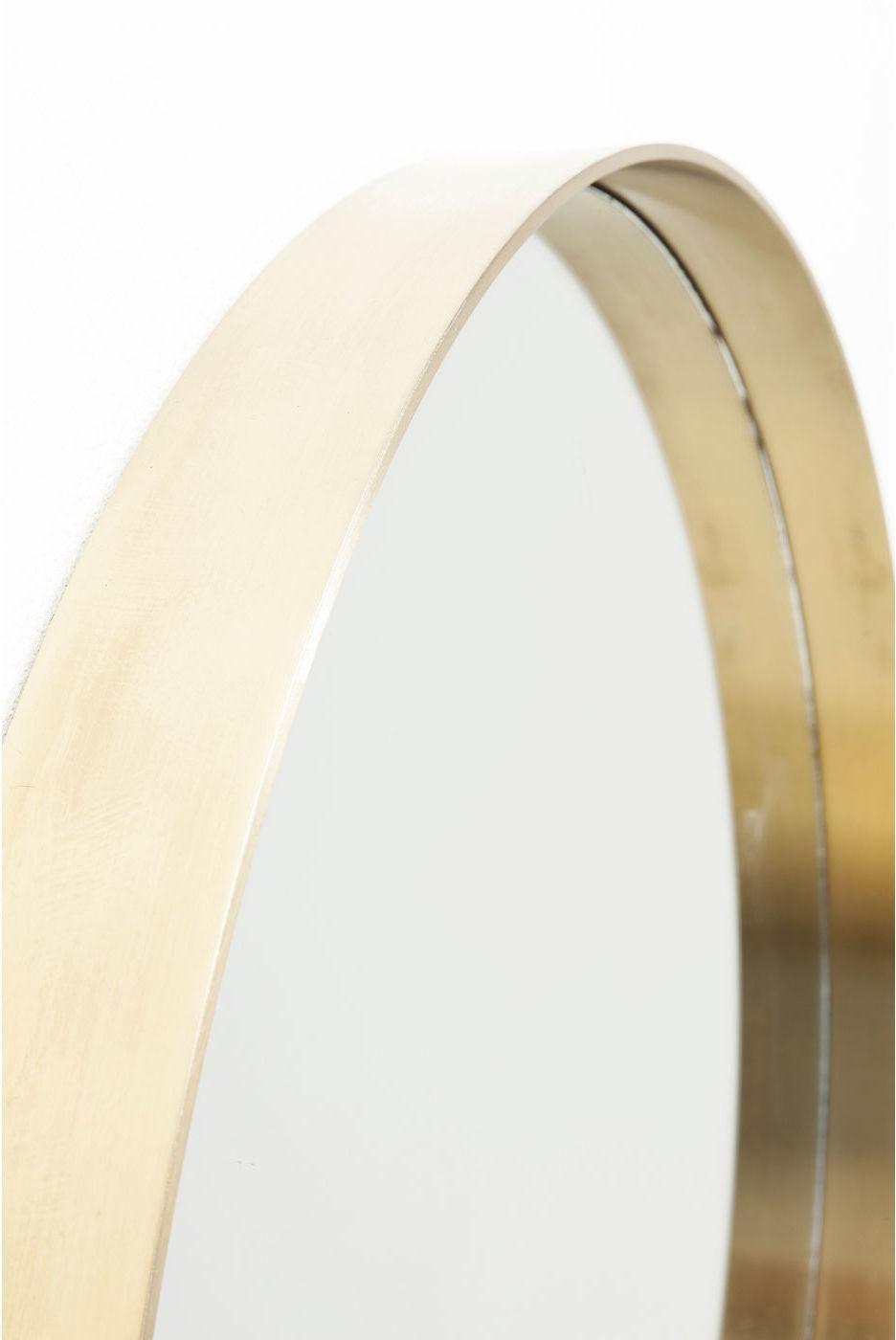 spiegel curve rond messing 60 cm kare design. Black Bedroom Furniture Sets. Home Design Ideas