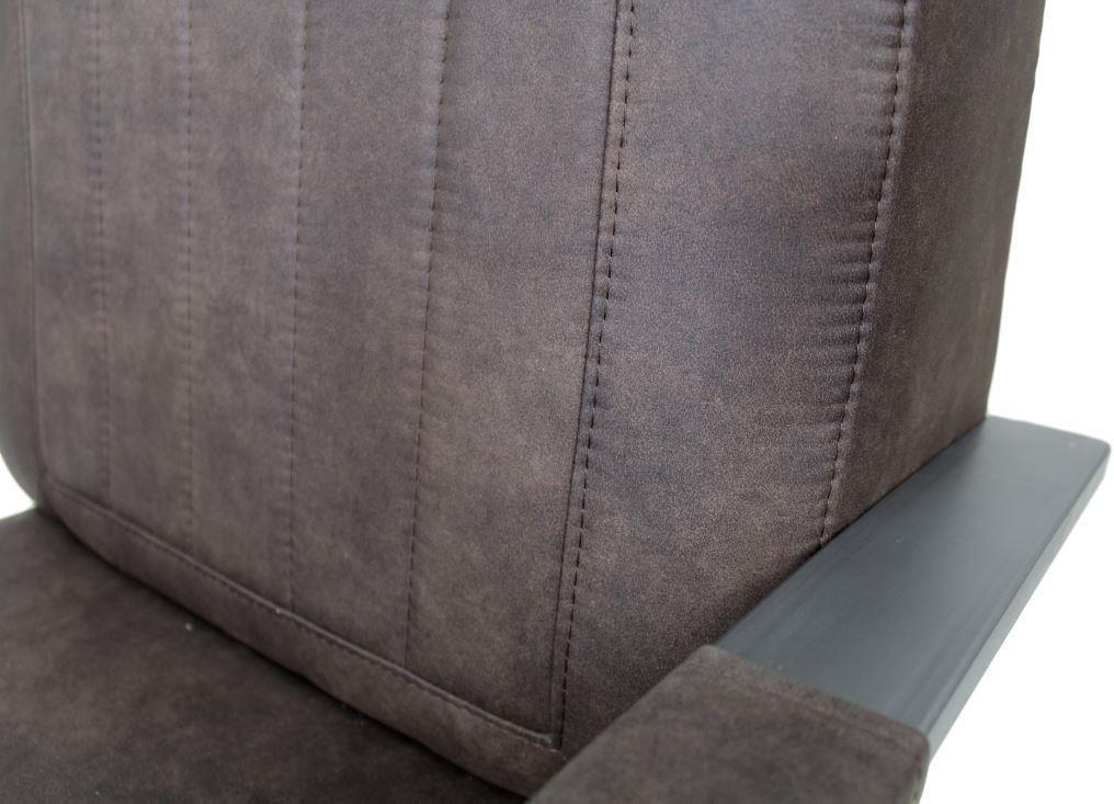 sessel arizona braun metall stoff hsm kollektion kaufen wohn und. Black Bedroom Furniture Sets. Home Design Ideas