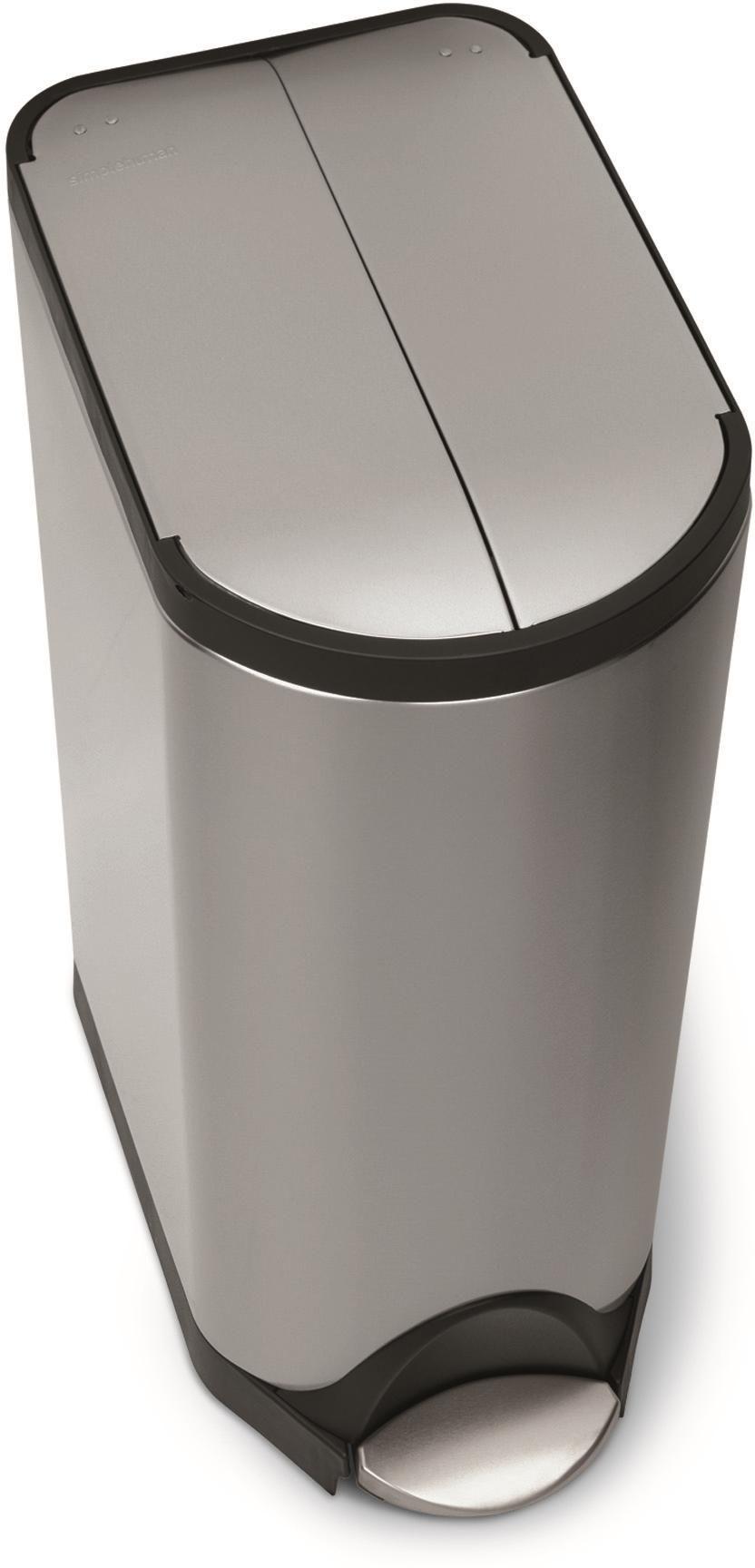 abfalleimer butterfly 30 liter matt edelstahl simplehuman kaufen. Black Bedroom Furniture Sets. Home Design Ideas