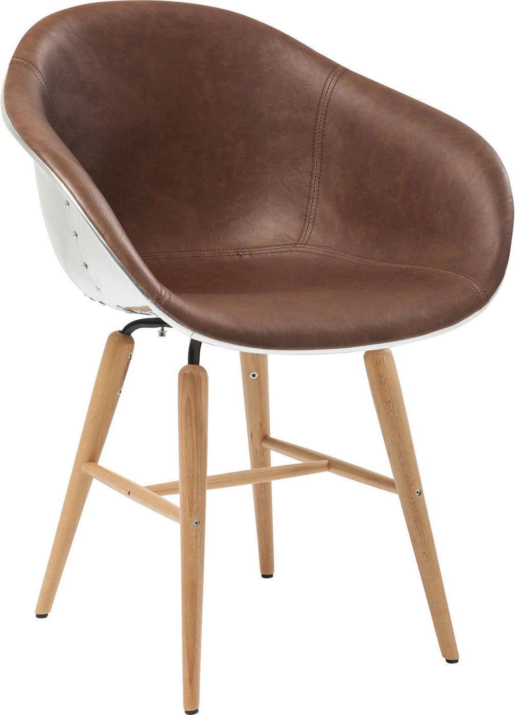 Stuhl forum soho braun mit armlehne kare design for Stuhl mit armlehne design
