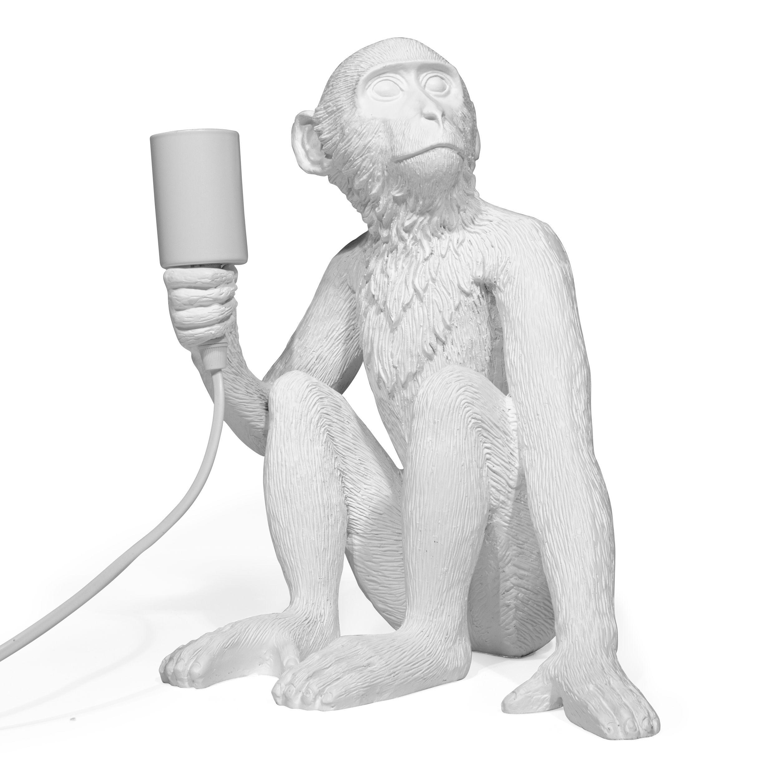 Lamp Aap - Zittend - Wit - LiL Design