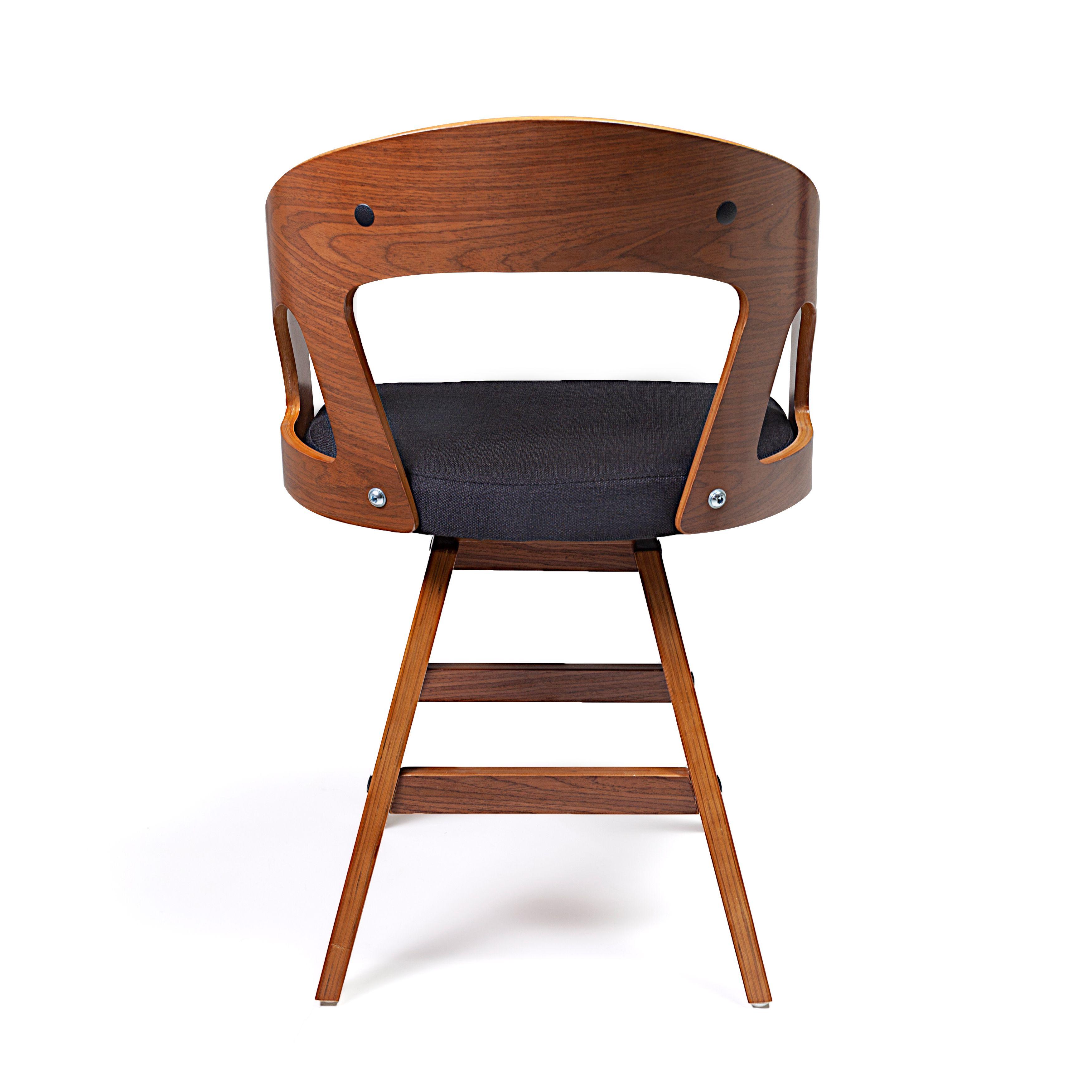Stoel Jammerbugt - Donkergrijs/Walnoot - LiL Design