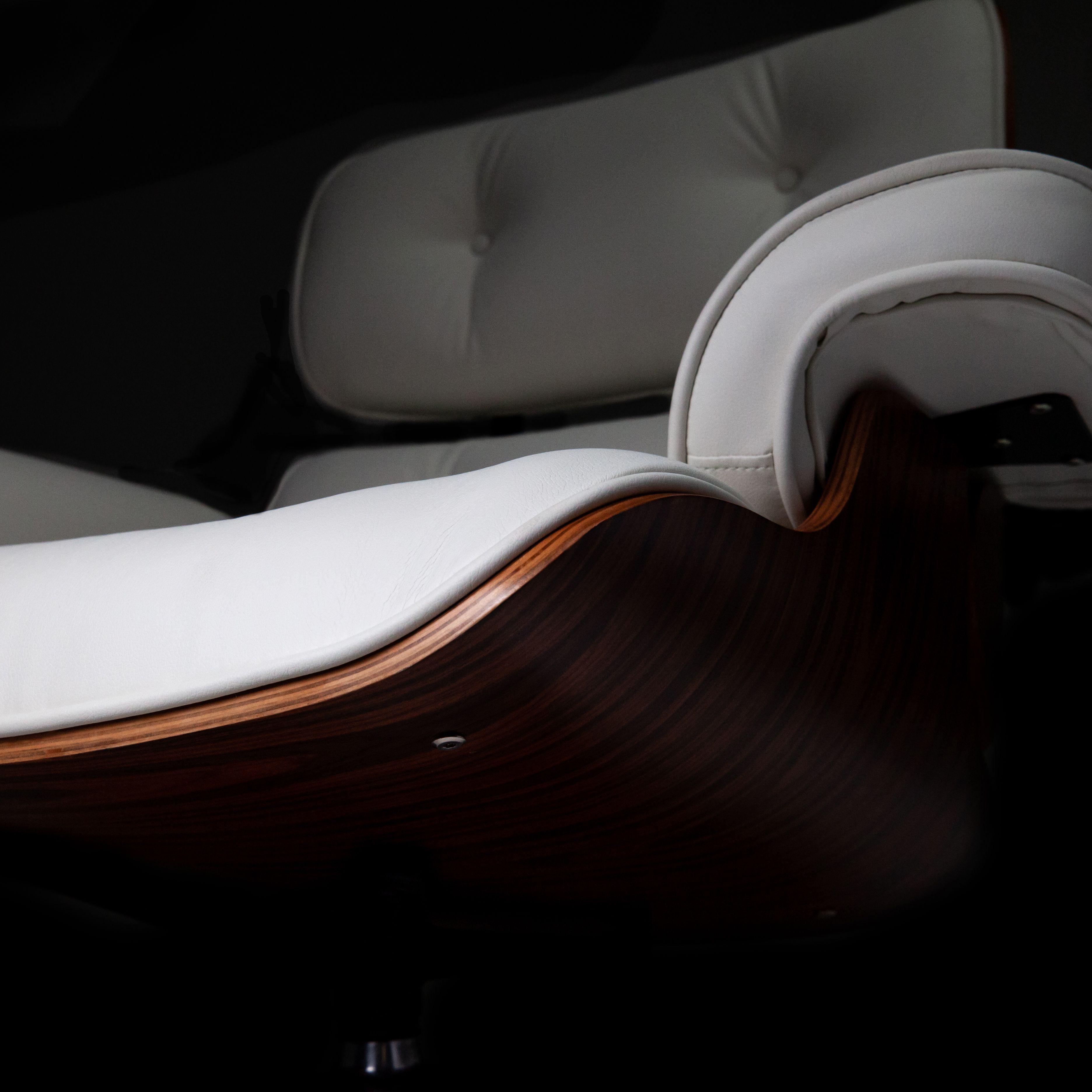 Fauteuil Glostrup met voetenbankje - Wit - LiL Design
